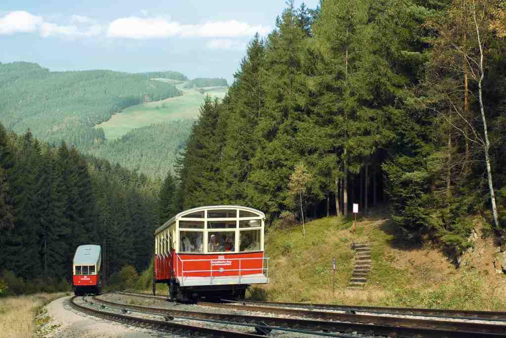 Steilstrecke der Oberweißbacher Bergbahn