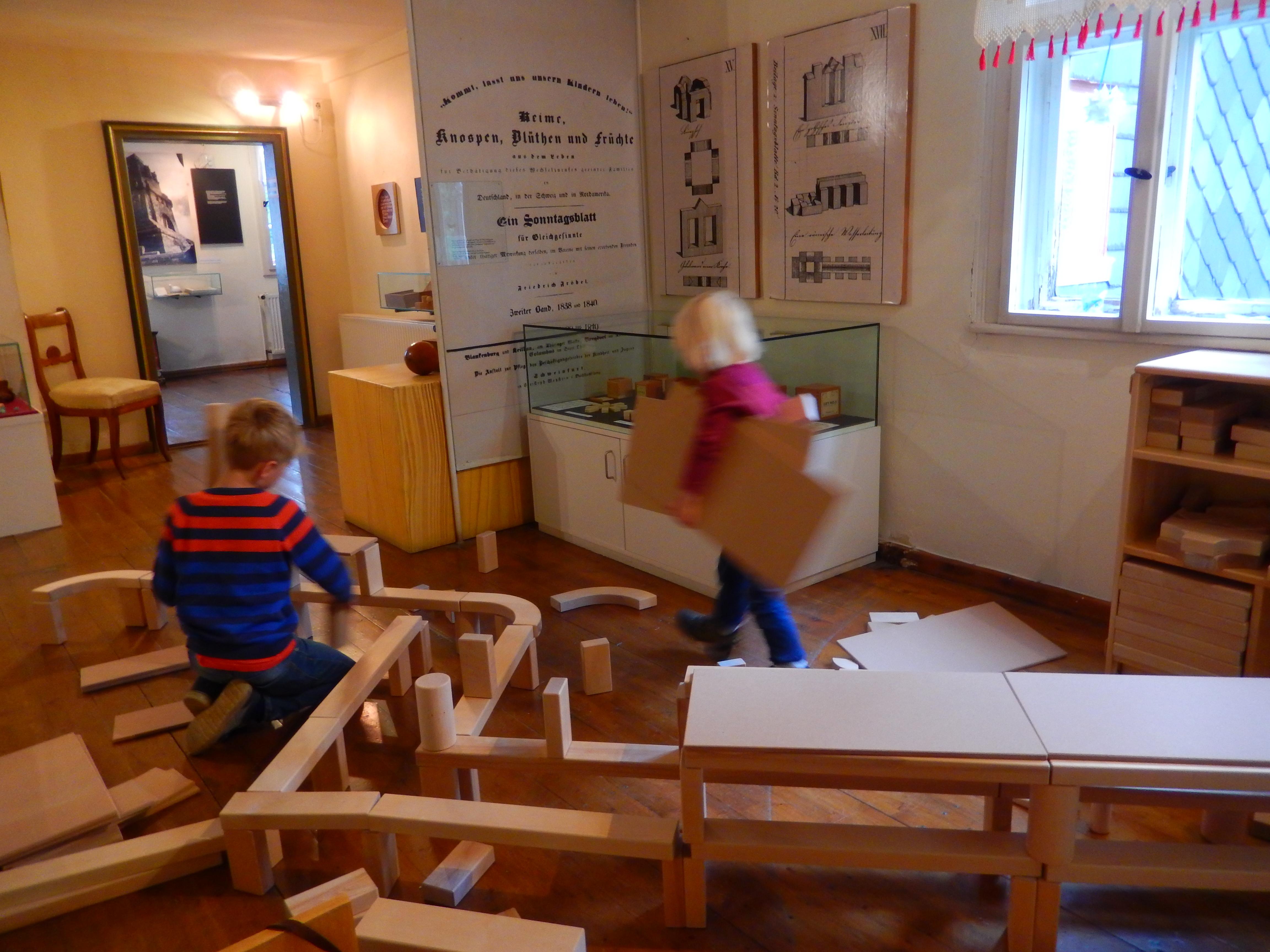 Spielecke im Fröbelhaus Oberweißbach im Testlauf