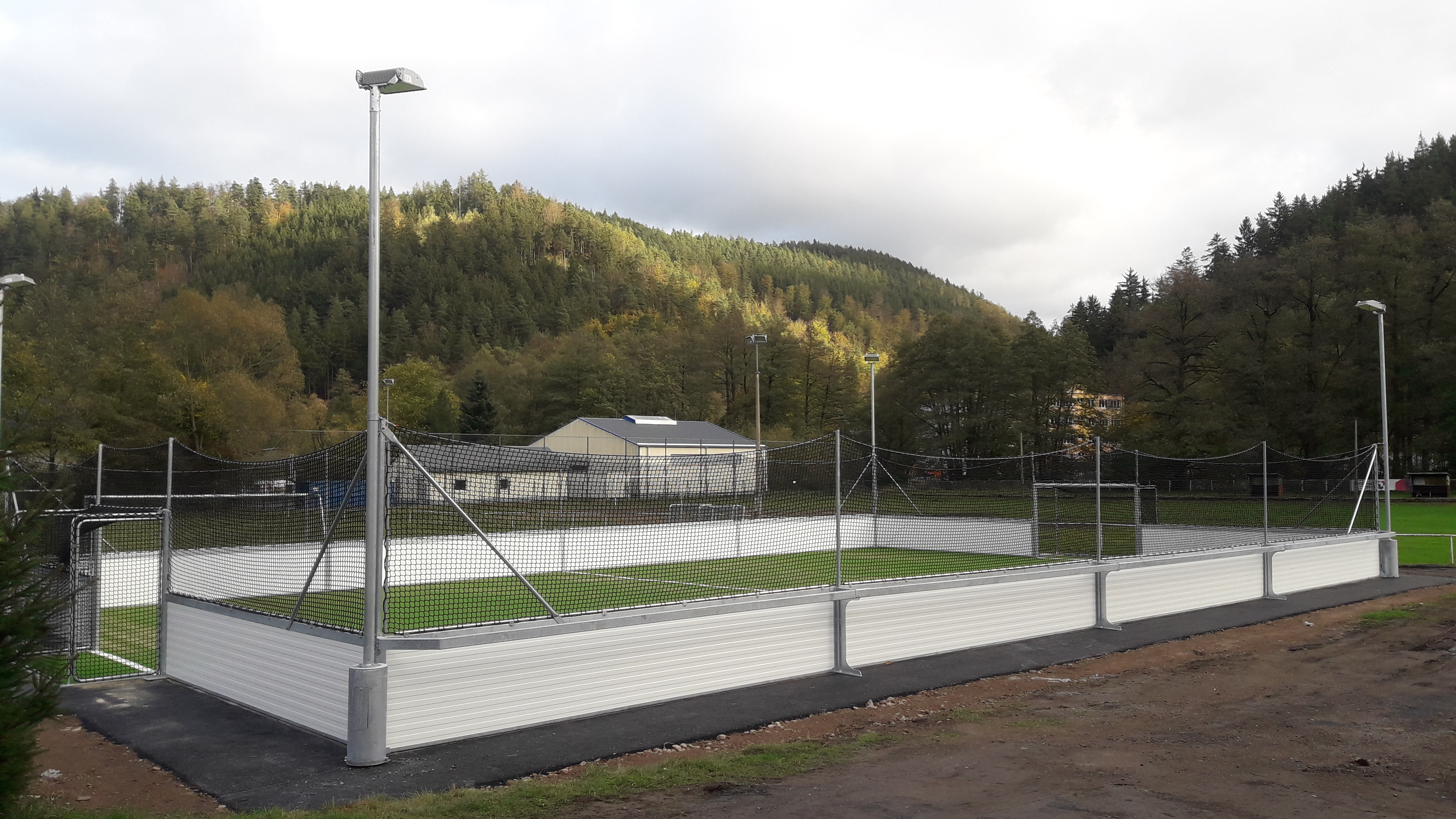 SoccerArena zur Abnahme des Förderprojektes