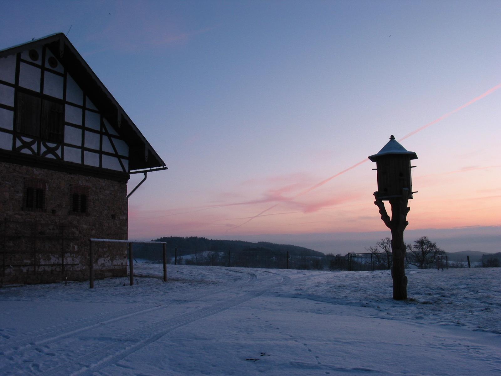 Groschwitz 2009 - ein Winter mit Schnee