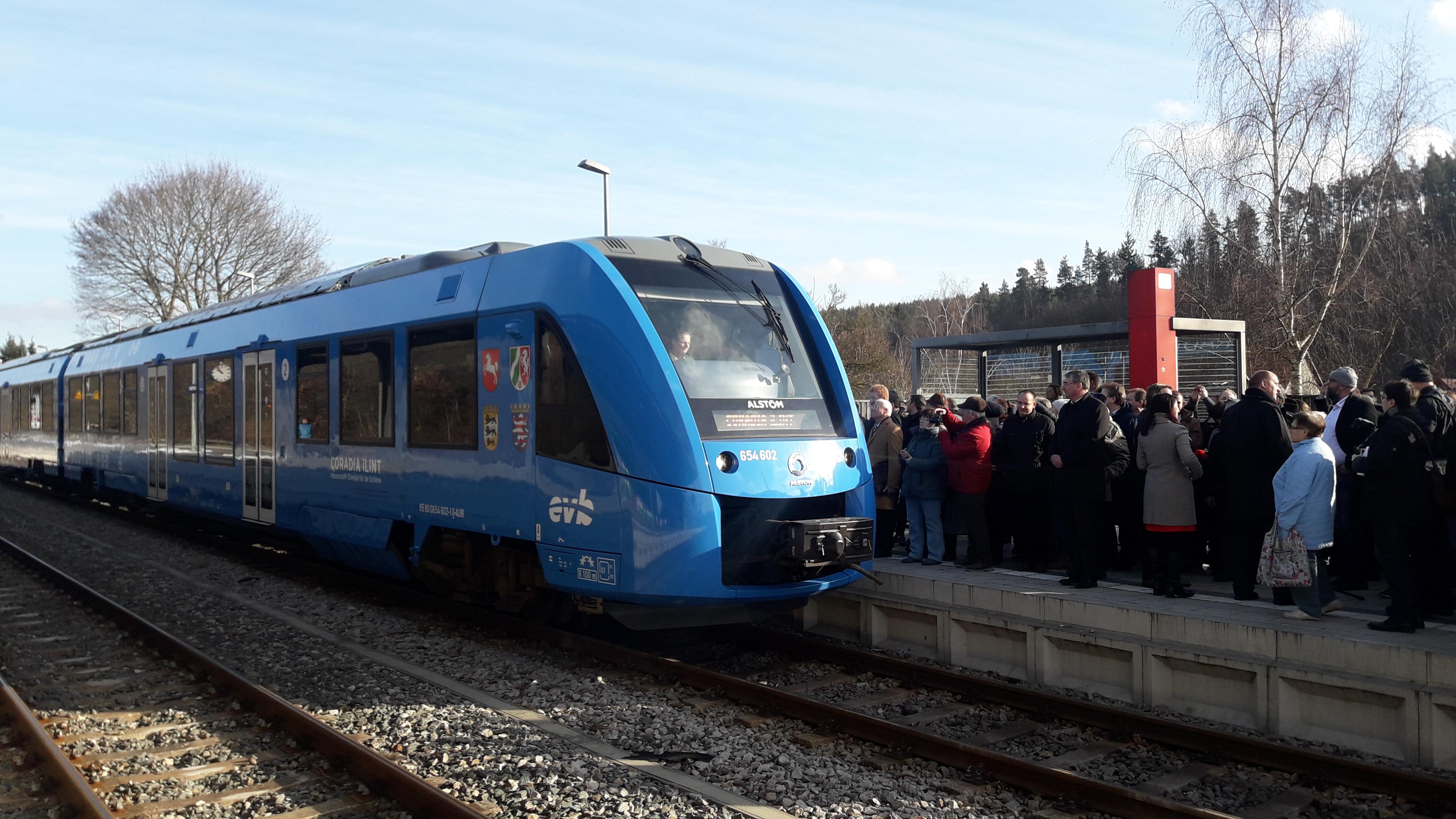 Testfahrt Wasserstoffzug Schwarzatal am 04.02.2019